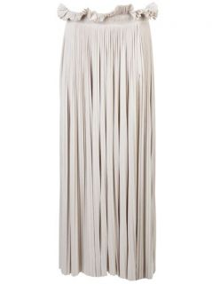 Maria Dora Maxi Throne Pleated Skirt