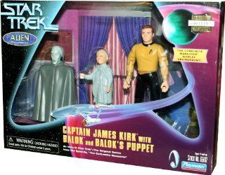 "CAPTAIN JAMES KIRK with BALOK and BALOK'S PUPPET as seen in Star Trek: The Original Series from the Episode ""The Carbonite Maneuver"": Toys & Games"