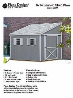 Do it yourself a storage shed plans, Lean To Style Shed Plans, 6' x 14' Plans Design E0614   Woodworking Project Plans