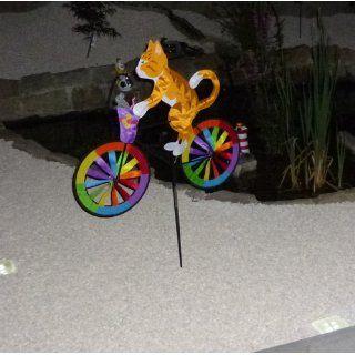 XXL   Windrad Fahrrad 1,23 m Katze Maus Herbst 2 R�der Windr�der Windspiel: Spielzeug