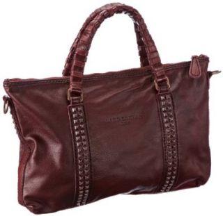 Liebeskind Berlin Ariane, Damen Henkeltaschen, Rot (rouge noir), 40x27x3 cm (B x H x T): Schuhe & Handtaschen