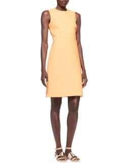 Womens Sleeveless Techno Shift Dress   Victoria by Victoria Beckham   Passion