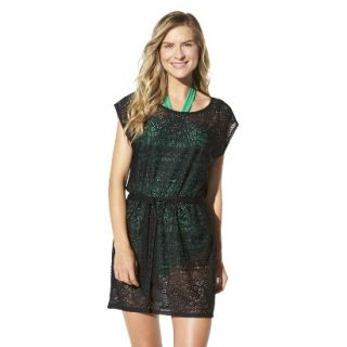 Merona Womens Crochet Coverup Dress  Black XL