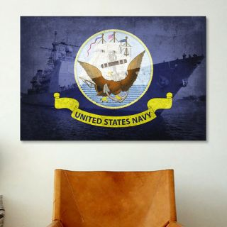 iCanvas Flags Ticonderoga Class Guided Missile Cruiser Graphic Art on