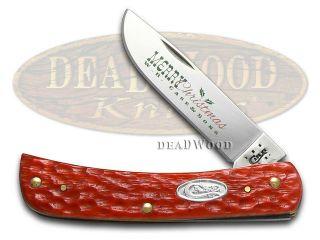CASE XX Merry Christmas Dark Red Bone Sodbuster Jr Stainless Pocket Knife Knives