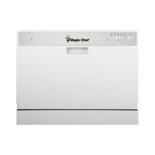 Countertop Dishwasher Magic Chef : Magic Chef Countertop Portable Dishwasher in White with 6 Place ...