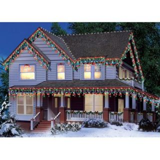 Holiday Time 300 Count Icicle Christmas Lights, Multi Color
