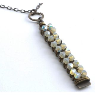 Tuscany Sand Opal Crystal Pendant Necklace   Shopping   The