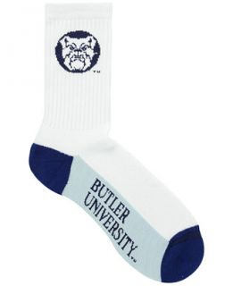 For Bare Feet Butler Bulldogs Crew White 506 Sock   Sports Fan Shop By