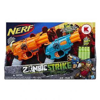 Nerf Zombie Strike Doublestrike Blaster 2 Pack   Toys & Games
