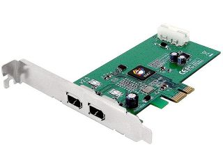 SIIG FireWire 1394a 2 Port PCIe Card, Model NN E20012 S2