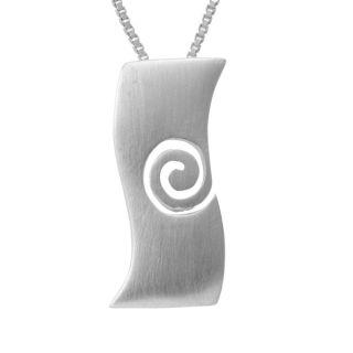 Ashanti Aquamarine and Chalcedony Sterling Silver Necklace (Sri Lanka)