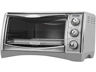 Rosewill RHTO 13001 6 Slice Black Toaster Oven Broiler with Drip Pan