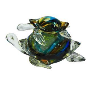 Dale Tiffany Colorful Sea Turtle Figurine