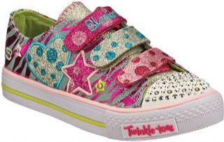 Infant/Toddler Girls Skechers Twinkle Toes Shuffles Polka Dot Crushers