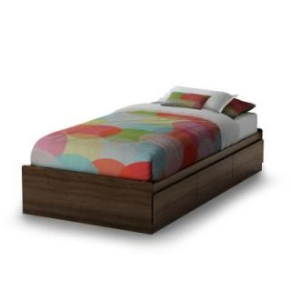 South Shore Furniture Popular Twin Mates Bed in Mocha 2779212