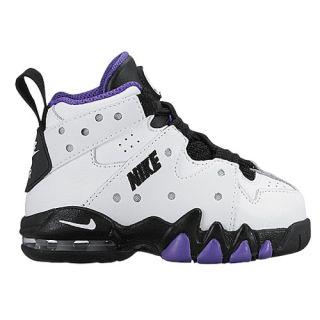 Nike Air Max CB 94   Boys Toddler   Basketball   Shoes   White/Black/Pure Purple