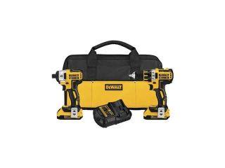 DeWALT DCK286D2 20V MAX XR Brushless Hammer Drill Impact Cordless Tool Combo Kit