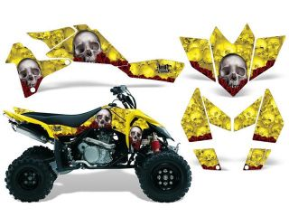 2006 2009|Suzuki|LTR|450::AMRRACING ATV Graphics Decal Kit:Bones Yellow