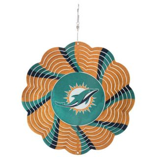 Miami Dolphins 10 Geo Wind Spinner