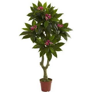 Nearly Natural 5' Plumeria Tree, UV Resistant, Indoor and Outdoor