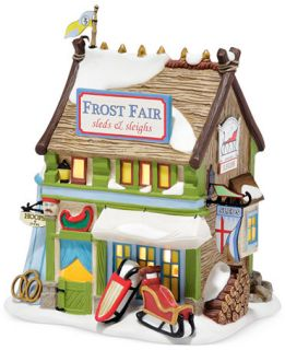 Department 56 Dickens Village Frost Fair Sled Rental   Holiday Lane