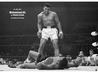 Muhammad Ali   1965 1st Round Knockout Against Sonny Liston Poster Print (55 x 40)
