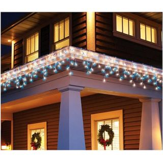 Holiday Time 300 Count Icicle Christmas Light Set, Blue/White