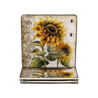 Bundle 55 Certified International French Sunflowers Dinnerware Collection (7 Pieces)