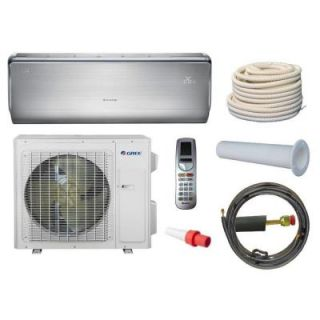 GREE Crown 12,000 BTU 1 Ton Ductless Mini Split Air Conditioner and Heat Pump Kit   208 230V/60Hz CROWN12HP230VKIT