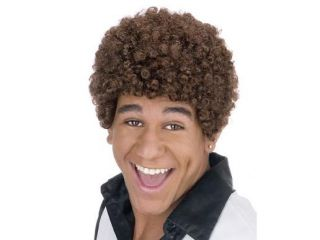 Jheri Curl Dark Brown Wig