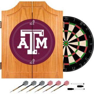 Trademark Texas A&M University Wood Finish Dart Cabinet Set LRG7000 TAMU