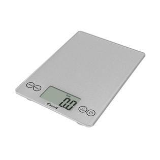 Escali Arti Glass Digital Scale, 15 Lb / 7 Kg, Shiny Silver   Home
