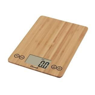 Escali Arti Glass Digital Scale, 15 Lb / 7 Kg, Bamboo   Home   Kitchen