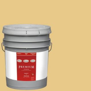Glidden Premium 5 gal. #HDGY46 Vintage Yellow Flat Latex Interior Paint with Primer HDGY46P 05F
