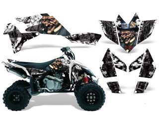 2006 2009|Suzuki|LTR|450::AMRRACING ATV Graphics Decal Kit:Mad Hatter White Black