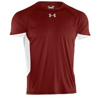 Under Armour Team Recruit T Shirt   Mens   Football   Clothing   Maroon/White/White