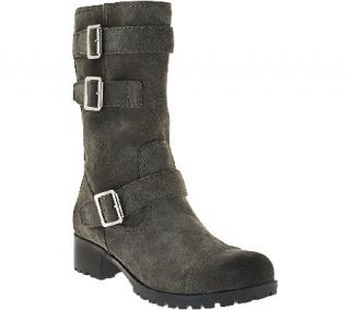 Marc Fisher Leather Mid shaft Buckle Boots   Arianna —