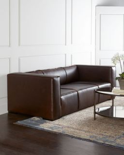 Adella Tufted Leather Sofa