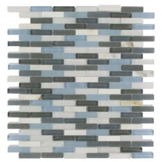 Splashback Tile Cleveland Shannon Mini Brick 10 in. x 11 in. x 8 mm Mixed Materials Mosaic Floor and Wall Tile CLEVELAND SHANNON MINI BRICK