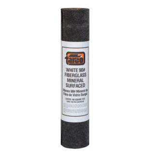 75 lb. White Fiberglass Mineral Surfaced Roll Roofing 24/008006