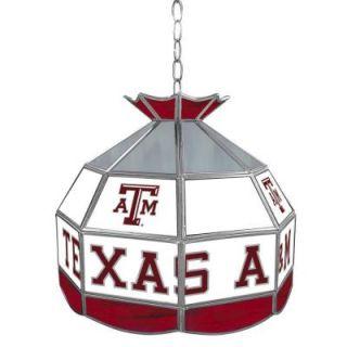 Trademark Texas A&M University 16 in. Gold Hanging Tiffany Style Billiard Lamp LRG1600 TAMU