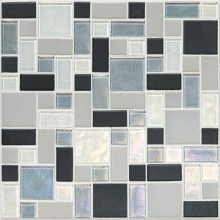 Keystones Blends Random Sized Block Ceramic with Oceanside Glass