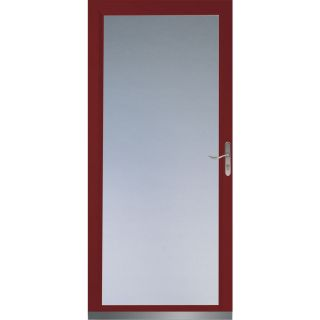 LARSON Signature Low E Cranberry Full View Tempered Glass and Interchangeable Screen Storm Door (Common 36 in x 81 in; Actual 35.75 in x 79.75 in)