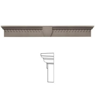 Builders Edge 9 in. x 73 5/8 in. Classic Dentil Window Header with Keystone in 008 Clay 060020973008