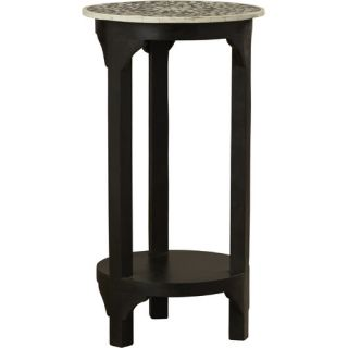 Bone Inlay Carmella End Table by Bungalow Rose