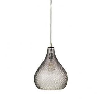 Jamie Young Company Large Cut Glass Curved Pendant, Grey