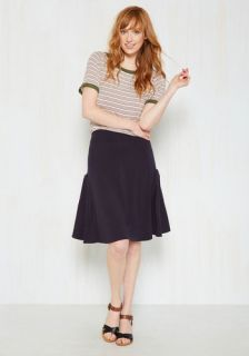 At the Racquet of Dawn Skirt in Navy  Mod Retro Vintage Skirts