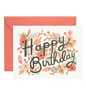 RIFLE PAPER   Floral burst birthday card