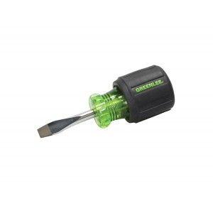 """Greenlee 0153 28C Keystone Tip Flat Blade Screwdriver with Round Shank   1/4"""" x 1 1/2"""""""